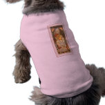 Vestido largo femenino de la señora del poster del camisetas de perro