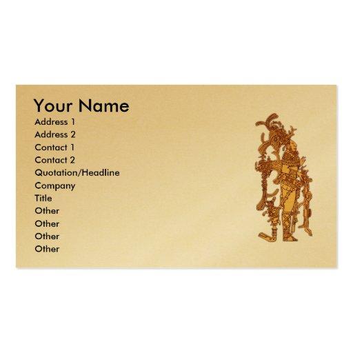 Vestido maya tarjeta de negocio