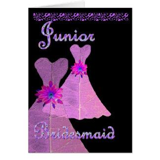 Vestido menor del ROSA de la invitación de la dama Tarjeta De Felicitación
