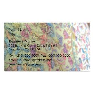 Vestido mexicano bordado tarjetas de visita