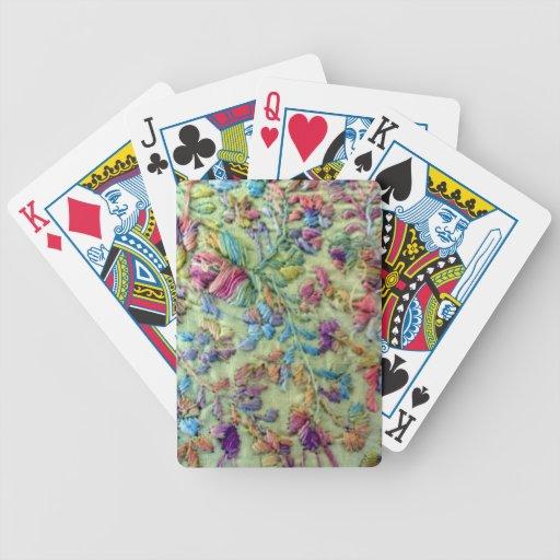 Vestido mexicano coloreado brillante barajas de cartas