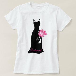 Vestido negro de la dama de honor remeras