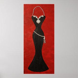 """Vestido negro exquisito "" Posters"