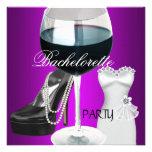 Vestido negro magenta del vino del fiesta de Bache Invitacion Personal