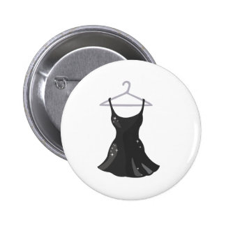Vestido negro pin redondo de 2 pulgadas