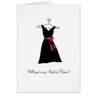 ¿Vestido negro, usted será mi criada del honor? Tarjeta Pequeña
