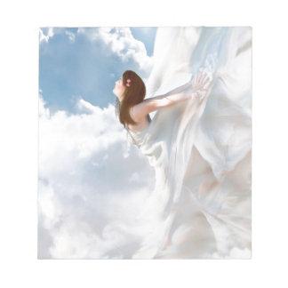 Vestido nublado del alboroto del ángel abstracto blocs de notas