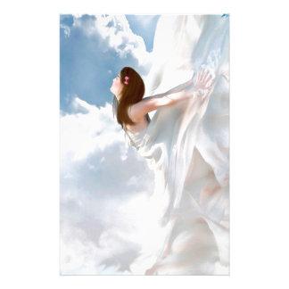 Vestido nublado del alboroto del ángel abstracto  papeleria