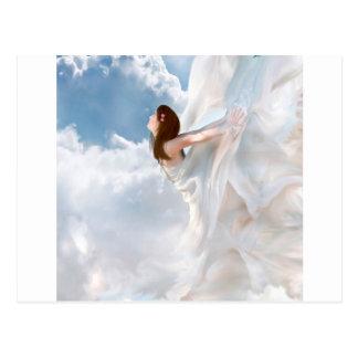 Vestido nublado del alboroto del ángel abstracto postal