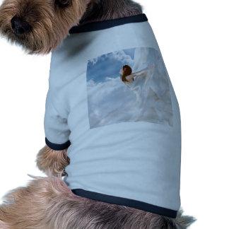 Vestido nublado del alboroto del ángel abstracto camiseta de mascota