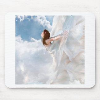Vestido nublado del alboroto del ángel abstracto tapete de ratones