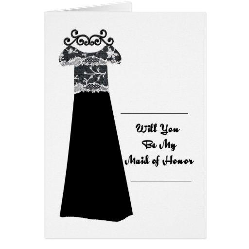 vestido nupcial del negro de la invitación del tarjeta de felicitación