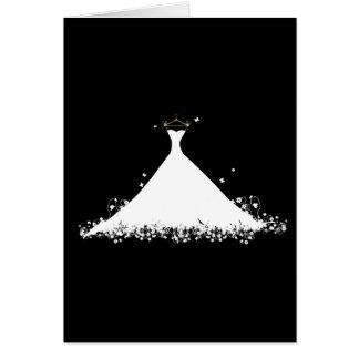 Vestido nupcial tarjeta pequeña