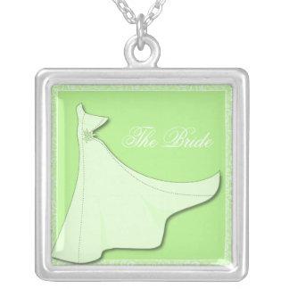 Vestido nupcial verde - collar nupcial de la ducha