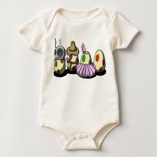 vestido-para arriba del huevo mamelucos de bebé