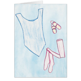 Vestido para bailar la tarjeta del arte
