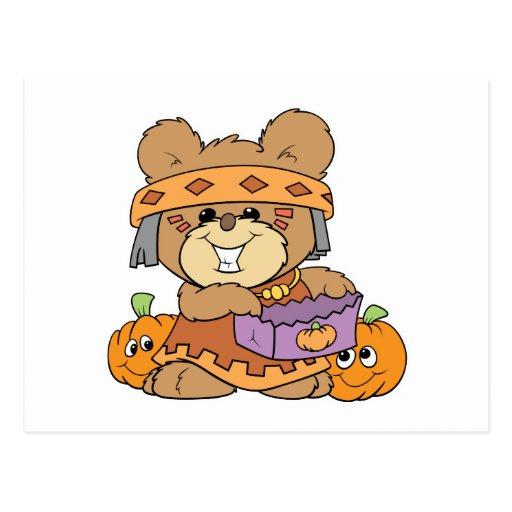 vestido para el oso de peluche indio del traje de postal