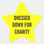 Vestido para la estrella de la caridad calcomanía forma de estrella personalizadas