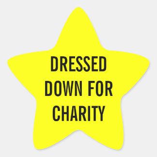 Vestido para la estrella de la caridad pegatina en forma de estrella