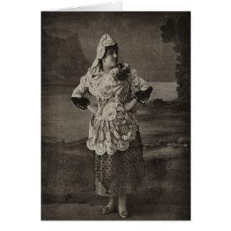 Vestido para la lucha de Bull, Cádiz, España, 1898 Tarjeta Pequeña