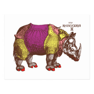 Vestido para matar a rinoceronte tarjetas postales