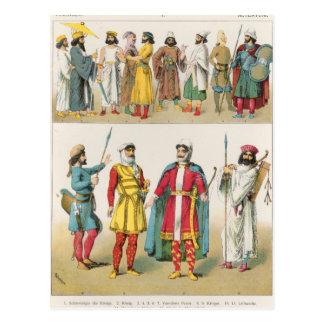 """Vestido persa, del """"der Voelker de Trachten"""", 1864 Postal"""