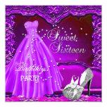 Vestido púrpura del vestido de la fiesta de anuncio personalizado