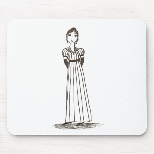 Vestido rayado Inspired de Jane Austen Tapete De Raton