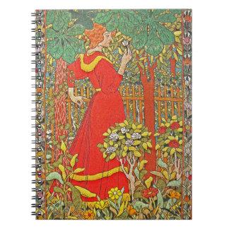 Vestido rojo 1898 note book
