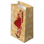 Vestido rojo Apple de la niña del vintage Bolsa De Regalo Pequeña