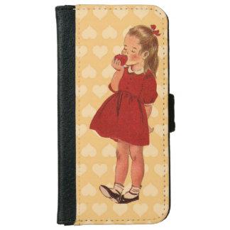 Vestido rojo Apple de la niña del vintage