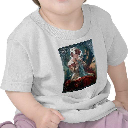 Vestido rojo de la mujer Lefevre-Utile del art Camiseta
