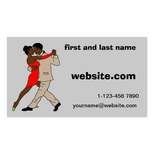 vestido rojo de la tarjeta de visita