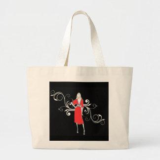 Vestido rojo Hangbag del vintage Bolsas De Mano