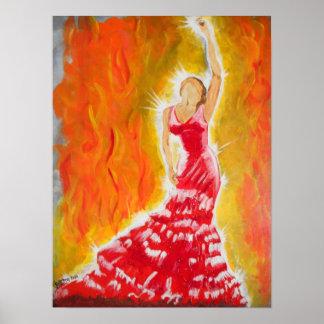 Vestido rojo poster