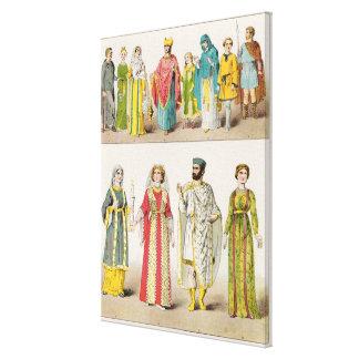 Vestido romano cristiano lona envuelta para galerias
