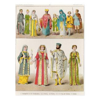 Vestido romano cristiano tarjeta postal