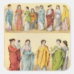 Vestido romano femenino pegatina cuadrada