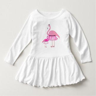 Vestido rosado del volante del niño del flamenco