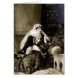 Vestido tradicional de la mujer armenia, circa 180 tarjeta de felicitación