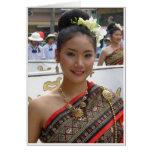 Vestido tradicional tarjetas