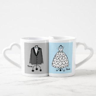 Vestido y Tux de boda Tazas Amorosas