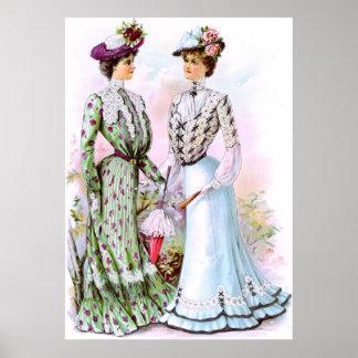 Vestidos 1901 del vintage impresiones