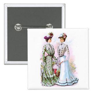 Vestidos 1901 del vintage pin cuadrado