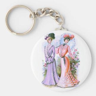 vestidos de la moda de los 1900s llavero personalizado