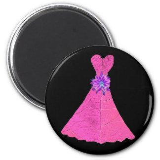 Vestidos de papel de la dama de honor de la muñeca imán para frigorífico