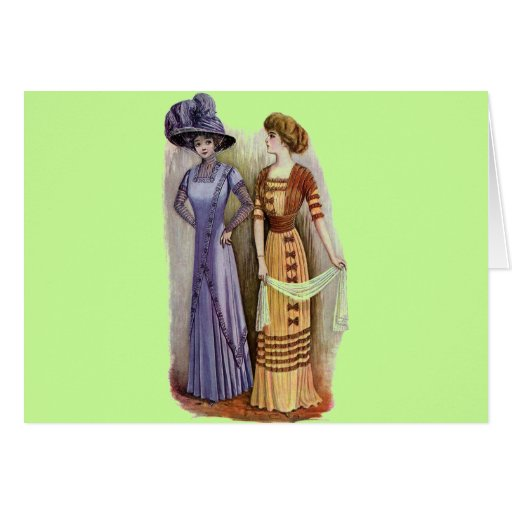 Vestidos del vintage tarjeta