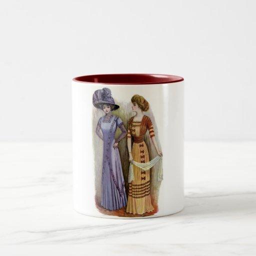 Vestidos del vintage taza de café