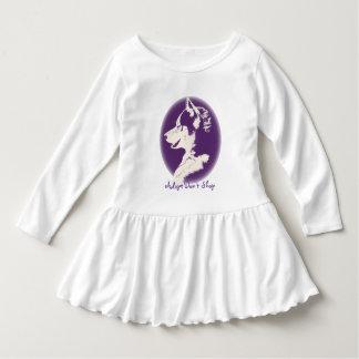 Vestidos fornidos del bebé del perrito del vestido camisas