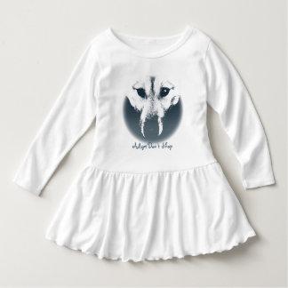 Vestidos fornidos del bebé del perrito del vestido playera